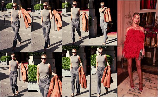 26/09/18 - La belle anglaise Rosie Huntington quittant l'hôtel The Ritz, dans la capitale française : Paris ! Rosie s'est rendue, dans la soirée, à l'événement YT Beauty & Fashion. Nous n'avons pas de photos ou presque mais elle était sublime