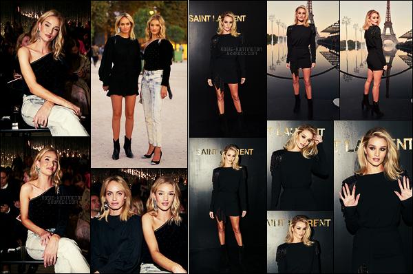 27/09/18 - Rosie Huntington est allée au défilé Isabel Marant durant la semaine de Fashion Week à Paris Par la même occasion, je vous rajoute les photos de Rosie HW alors du défilé Yves Saint Laurent, qui n'étaient pas disponibles avant...