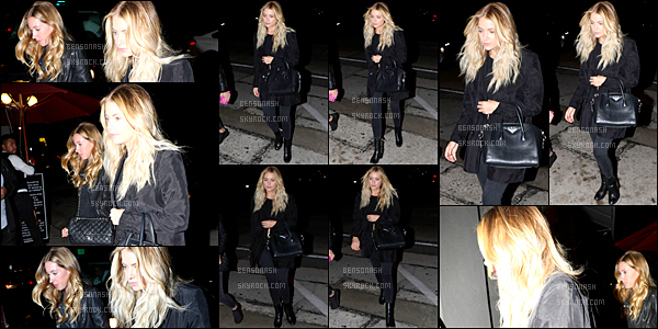 "18 Mai - Les paparazzis ont flashé la belle Ashley alors quittait le restaurant ""Craig's"" dans West Hollywood."