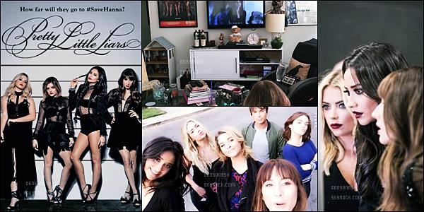 Découvrez le premier poster de la saison 7 de Pretty Little Liars et quelques photos du tournage, avec les filles.