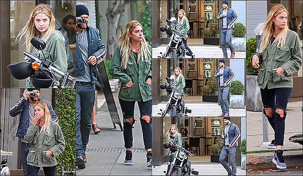 """03 Mars - Benzo a été aperçue dans LA alors qu'elle quittait le café """"Alfred"""" en compagnie de Keegan Allen."""