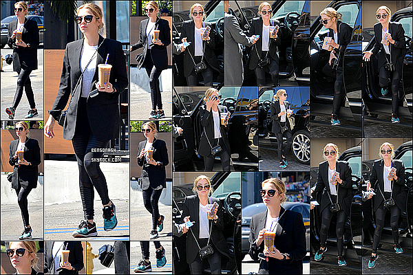 23 Mars - La magnifique Ashley a été flashée au Coffee Bean & Tea Leaf à Los Angeles. Votre avis sur la tenue?