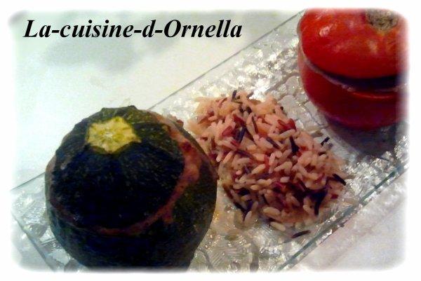 Tomates et Courgettes farcies à la Ornella !