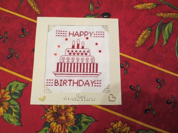 Ronde des cartes d'anniversaire : avril