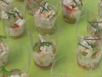 Guacamole au crabe et pamplemousse