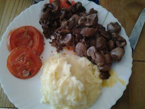 Rognons de veau aux champignons