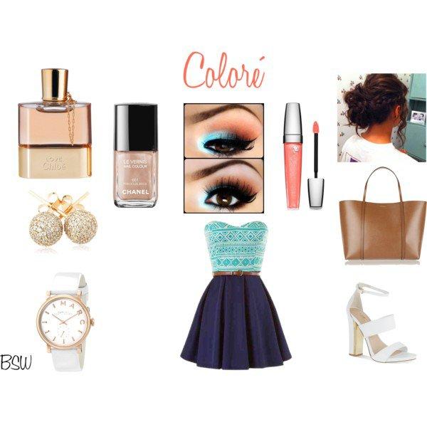 [Tenue n°2] Maquillage coloré de Mademoiselleblablamakeup