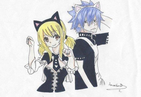 DESSIN #11_Fairy Tail_GreyxLucy