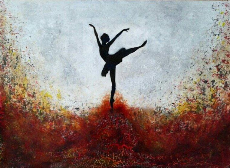 Ma soeur, cette grande artiste... J'adore son tableau, je suis vraiment impressionnée!!!
