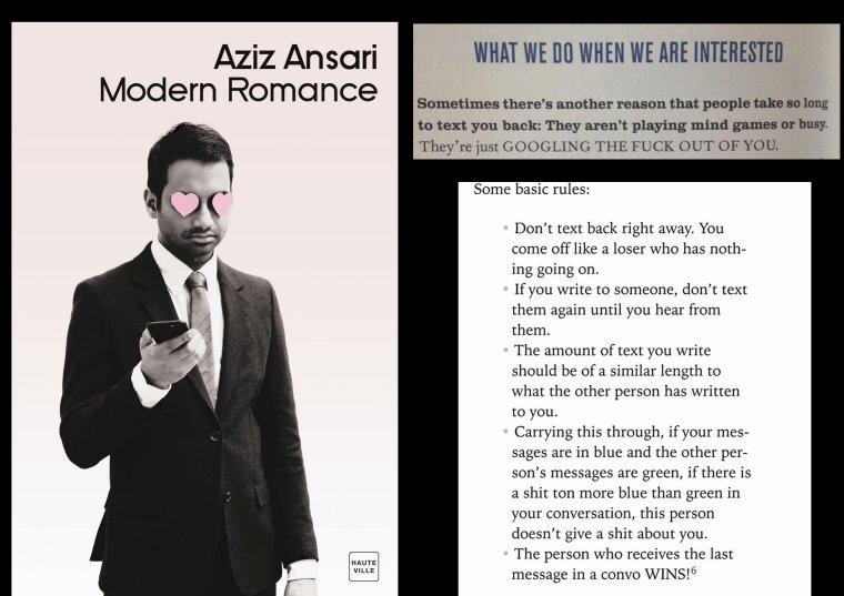 Modern Romance, le best-seller de Aziz Ansari... Trop hâte de le lire!!!!!