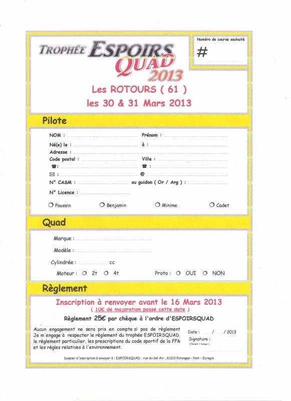 ENGAGEMENT LES ROTOURS (61)  DU 30/31 MARS 2013