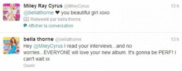 Miley Cyrus : Bella Thorne la soutient alors qu'elle traverse une période de doutes