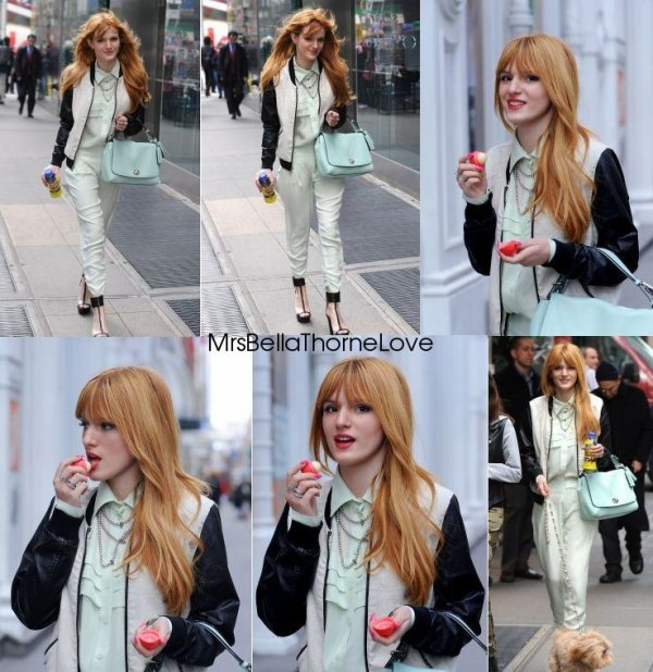 Bella Thorne quittant son hôtel le 1er avril
