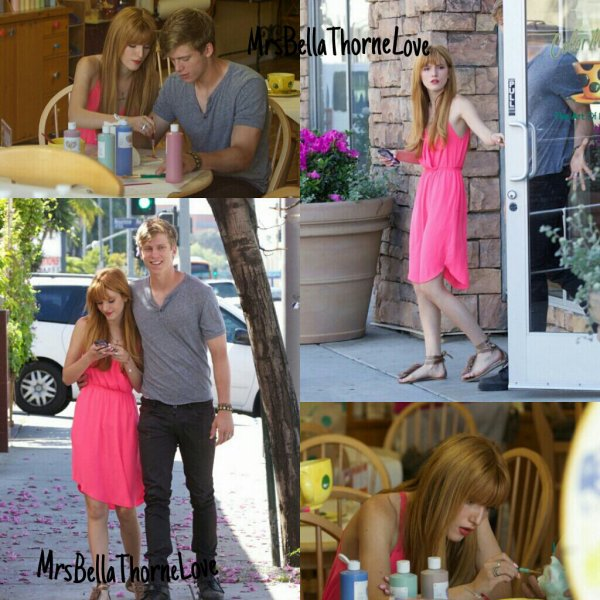 Bella Thorne au Color Me Mine le 6 avril