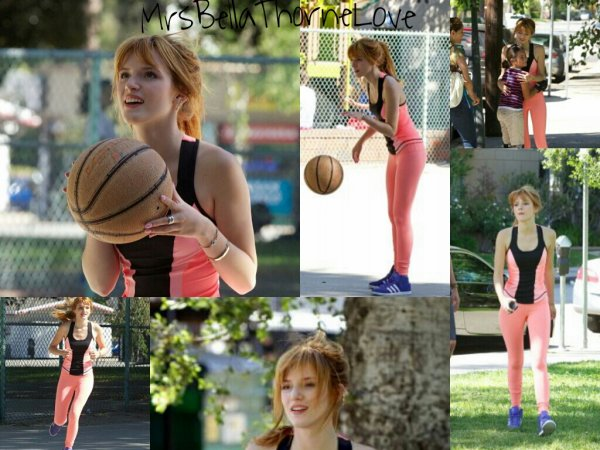 Bella Thorne à un parc de Los Angeles le 7 avril 2013