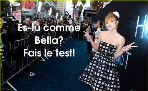Es-tu comme Bella Thorne? Test