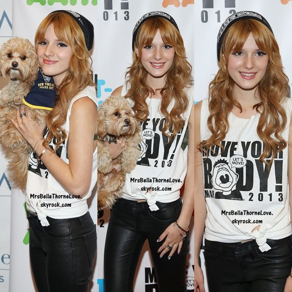 Bella Thorne au Move Your Body le 1er mai 2013 à New York