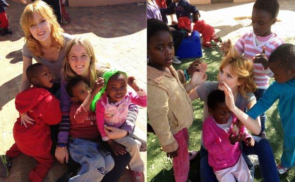 Bella Thorne visitant Sparrow Village en Afrique du Sud le 24 Juin 2013