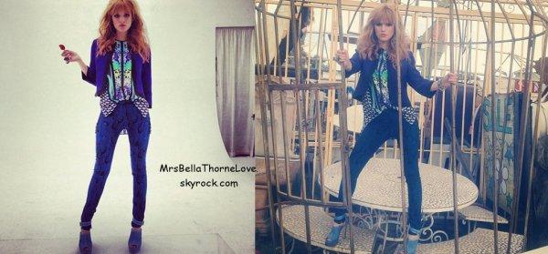 Bella Thorne sur le set d'un nouveau shoot le 2 Juillet 2013