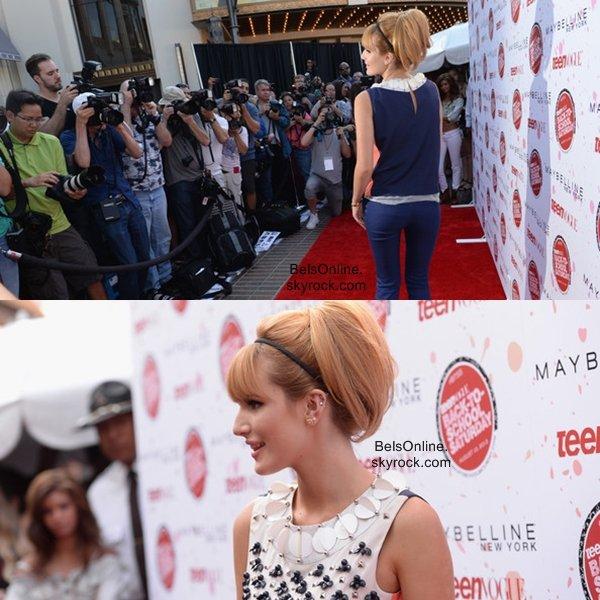 Bella Thorne arrivant au Grove de Los Angeles pour les BTSS le 9 Août 2013