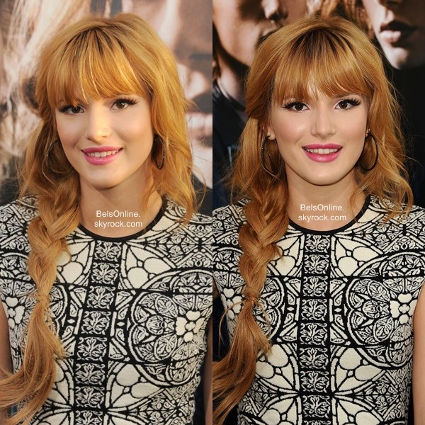 Bella Thorne à la première du film The Mortal Instruments : City Of Bones le 12 Août 2013