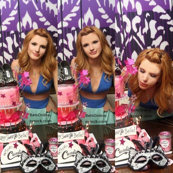 Bella Thorne fêtant son 16ème anniversaire le 8 Octobre 2013