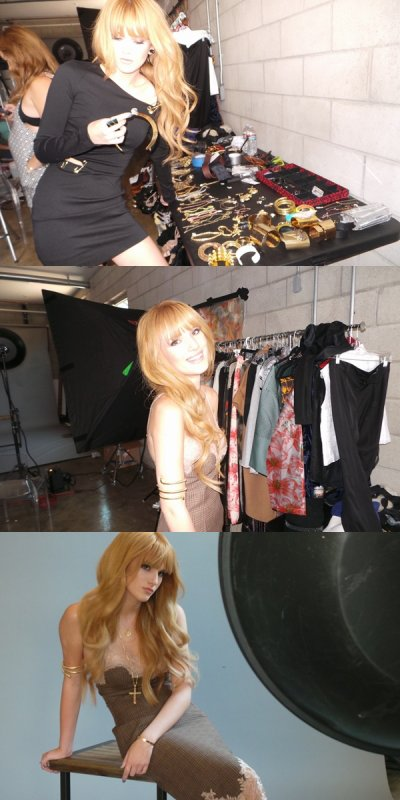 Behind The Scenes du shoot de Bella pour JustJared