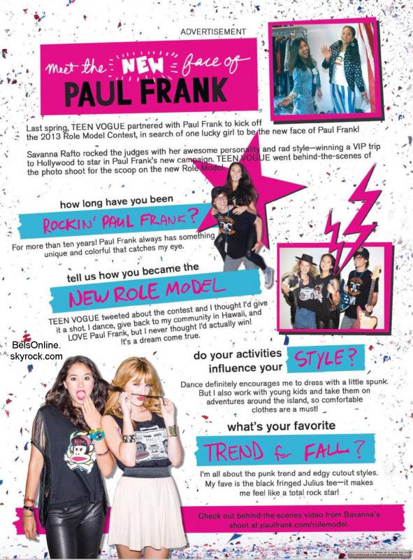 Bella Thorne sur la couverture du magazine TotalGirl de Novembre 2013