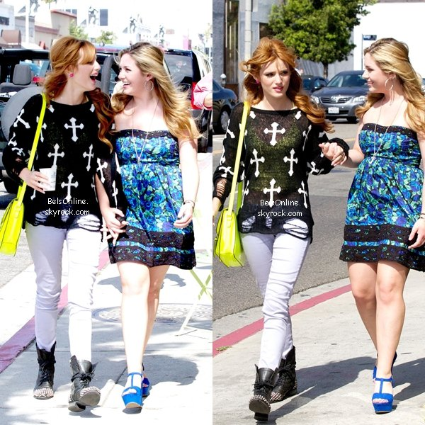 Nouvelles photos de Bella Thorne arrivant à un salon à West Hollywood le 12 juillet 2012