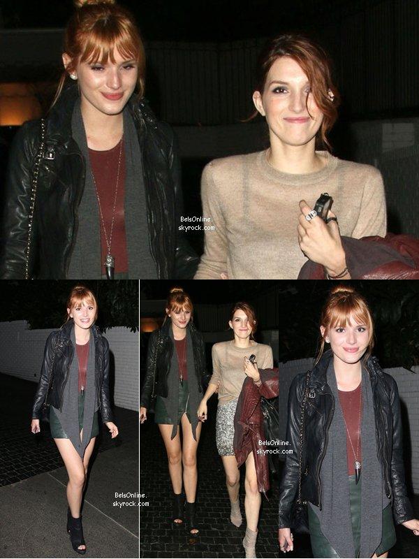 Bella Thorne et sa soeur Dani Thorne sortant du Château Marmont le 17 novembre 2013