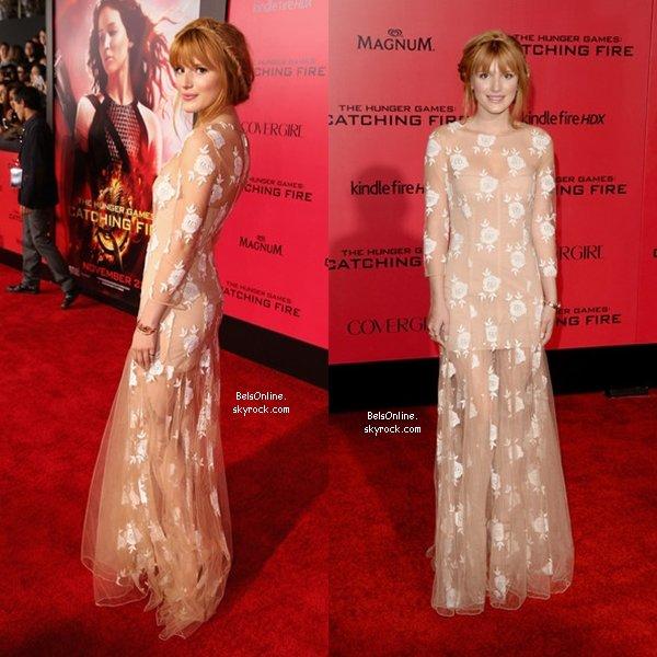 Bella Thorne à la première du film Hunger Games : Catching Fire le 18 novembre 2013 (partie 2)