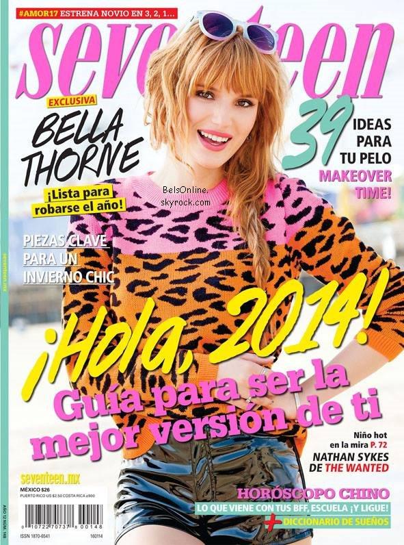 Bella Thorne sur la couverture du magazine Seventeen Mexico de Janvier 2013