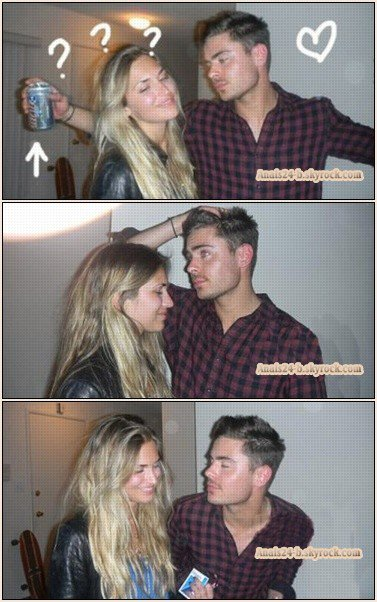 - - ★.•°•.• Zac photo avec une femme lors d'une fête •.•°•.★ - -