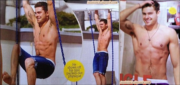 - - ★.•°•.• Scans de Zac en shirtless et tatoué + Stills Sucker Punch •.•°•.★ - -
