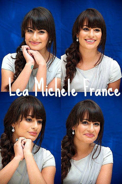 + Lea Michele etait présente le 5 octobre a une conference de presse pour la saison 3 en compagnie de Matthew Morrison, Jane Lynch, Cory Monteith et Chris Colfer .