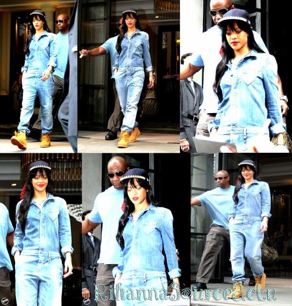 26.06.12 : Rihanna ,Quittant son hôtel à Londres...