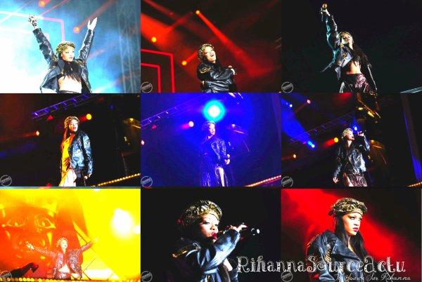 30.06.12 :Rihanna effectue au Festival Peace & Love en Suède ...