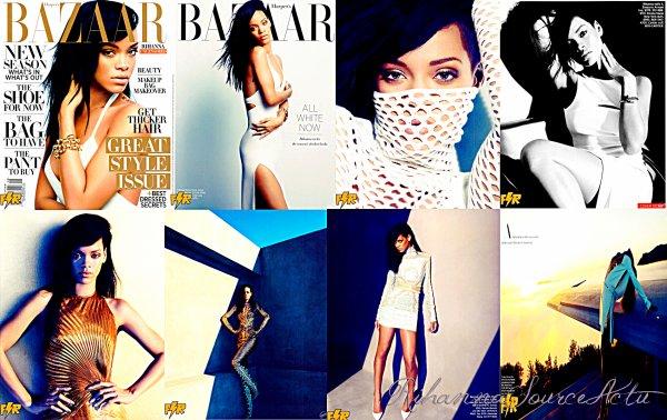 .06.07.12 : Rihanna est la fille de la couverture de la question Août du magazine Harper 's Bazaar. Les premières photos de la séance Photoshoot sont maintenant disponibles :