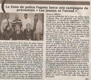 """Amputée à 15 ans: Article publié dans le journal """" LE VLAN """" le 8 avril 2009"""