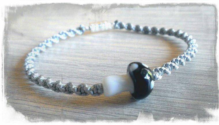 Bracelet champignon noir