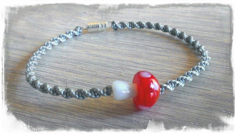 Bracelet champignon rouge