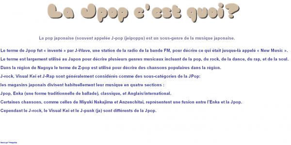 ♥  The Jpop  ♥  Merci à Mme.Kame' pour l'idée de l'article ^0^ Clique sur l'image si tu ne vois pas ce qui est écrit =D