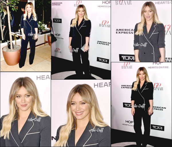 27 janvier| Hilary s'est rendue à la soirée Harper's Bazaar Celebrates 150 Most Fashionable Women au Sunset Tower Hotel à West Hollywood en Californie