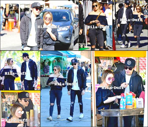 29 Janvier| Hilary a été vu au marché aux puces avec Matthew a Los Angeles, Californie.