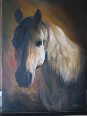 T te de cheval camarguais mes hobbys for Peinture sur fer a cheval