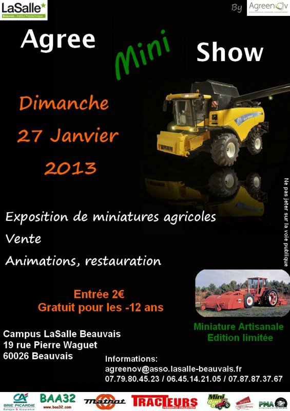 Exposition de miniatures agricole à Beauvais
