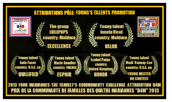 "D4M.2013-04.027 >> Challenge D4M 2013 INTERNATIONAL YOUNG'S TALENTS PROMOTION  ""2e SAISON"""