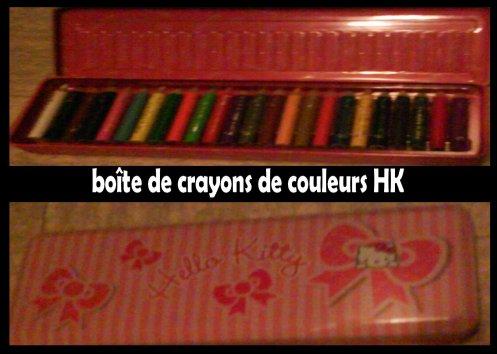 boîte de crayons de couleurs HK