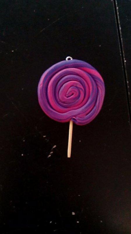 Sucette lollipop fimo