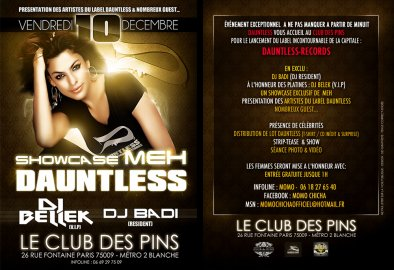 DAUNTLESS RECORDS REPREND LES AFFAIRES...